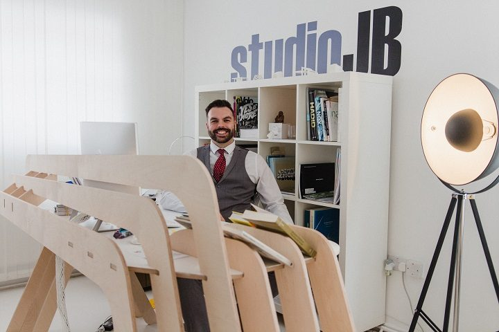 John Bridge in his new studio