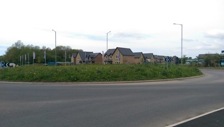 Longfield roundabout in Eastway Pic: Blog Preston