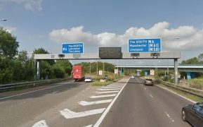 Police have closed the entry to the M6 at Junction 32 Pic: Google