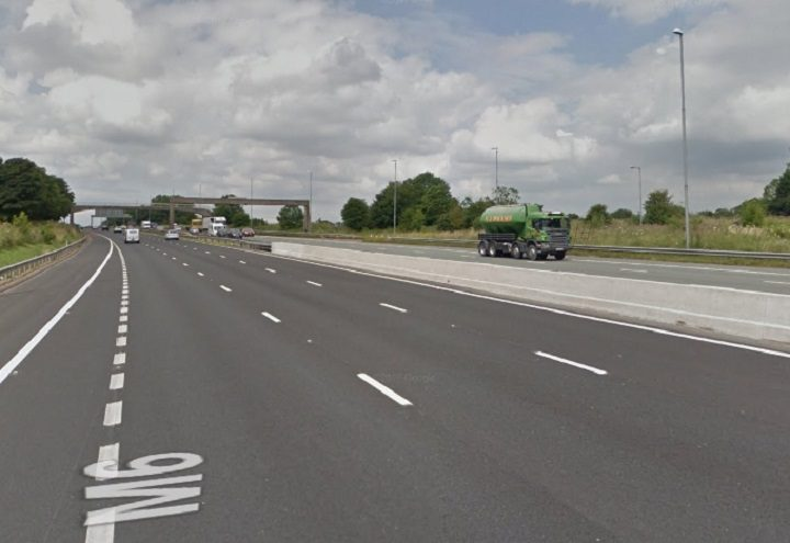 The M6 between Junction 32 and 33 was closed