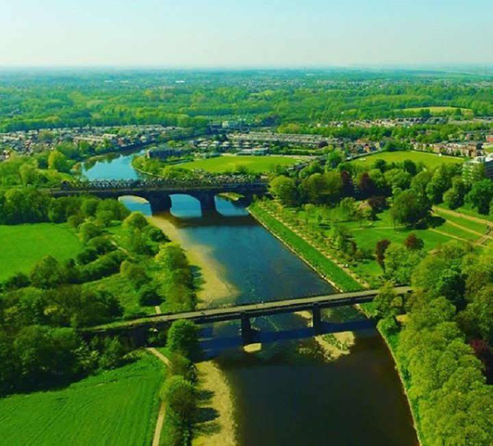 Preston's bridges in the sunshine Pic: Skycam Preston