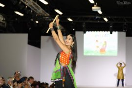 Traditional Indian outfits were paraded as part of the show