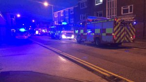Emergency services in Aughton Walk Pic: Preston Police