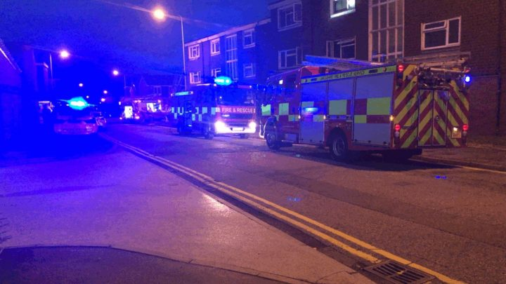 Emergency services in Aughton Walk Pic: Preston Police