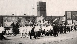 English Martyrs Church Whitsuntide procession in Garstang Road in 1920 Pic: Preston Digital Archive
