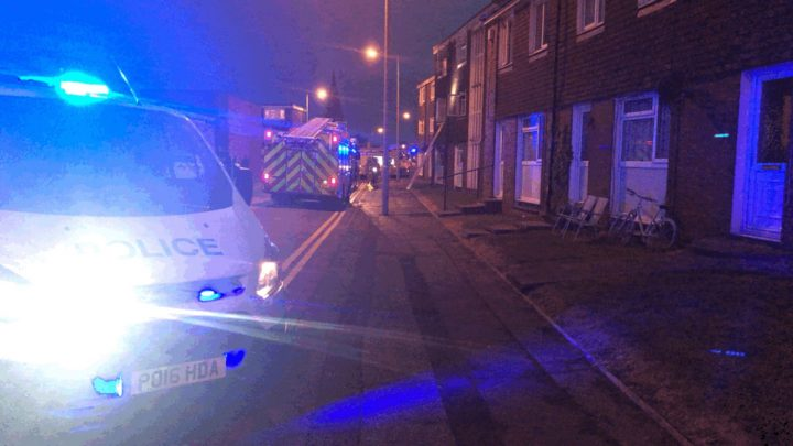 All the officers are said to be okay after the incident Pic: Preston Police