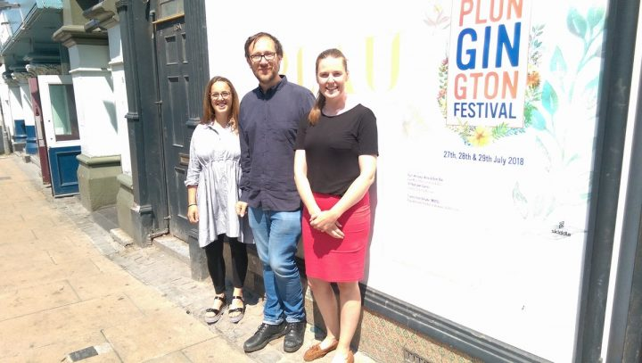 Rebecca Scott, Jeremy Rowlands and Nicola Heritage in the entrance to Plau bar Pic: Blog Preston