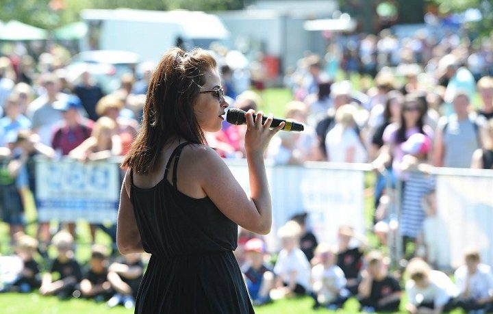 Singing at last year's Leyland Festival