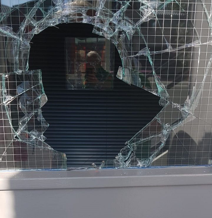 Damage caused to the offices during the break-in