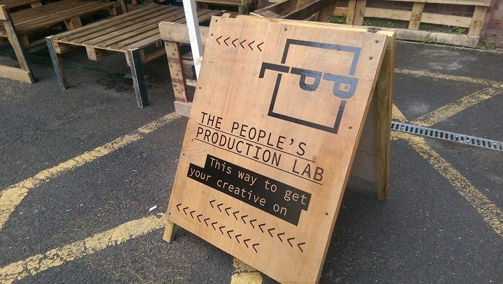 People's Production Lab sign