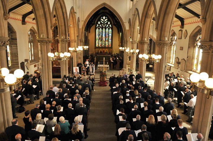 Inside the Minster for the funeral of Peter Rankin Pic: Lancashire Post
