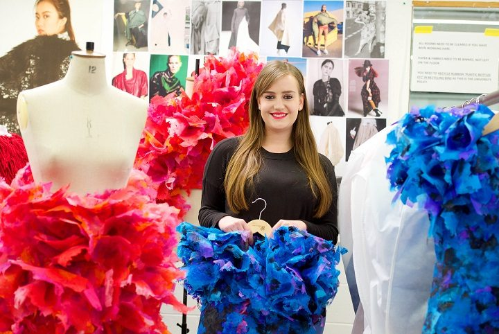 Budding fashion designer Rose Connor is one of the hundreds of students showcasing their work