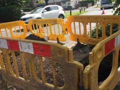 The hole being dug in Watling Street Road Pic: Christopher Smith