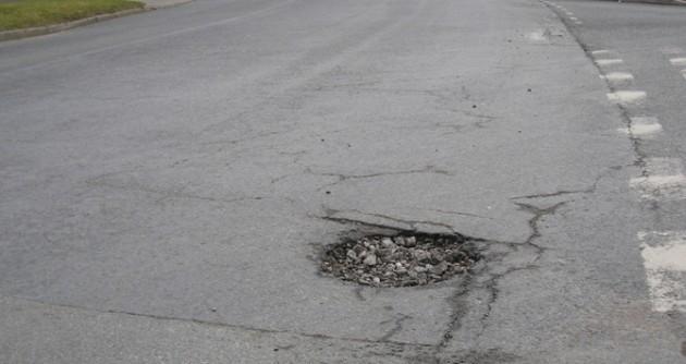 A pothole on Preston's roads