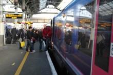 A TransPennine Express service at Preston station