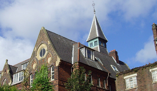 The roof of the former orphanage on Mount Street in the city centre