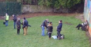 Film crews on location in Frenchwood