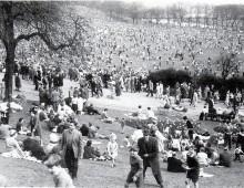 Avenham Park on Easter Monday in 1956