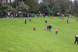 easter egg rolling in Avenham Park