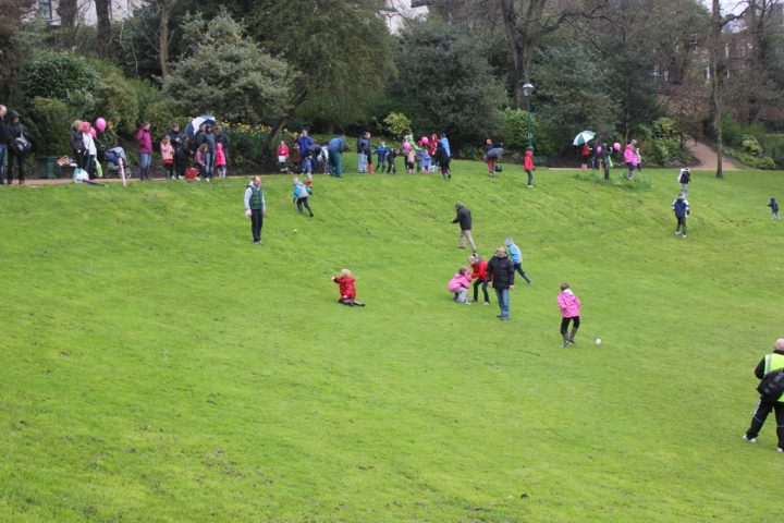 easter egg rolling in Avenham Park
