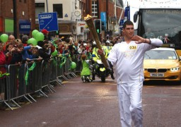 olympic torch on fishergate
