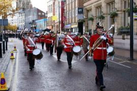 remembrance parade in preston