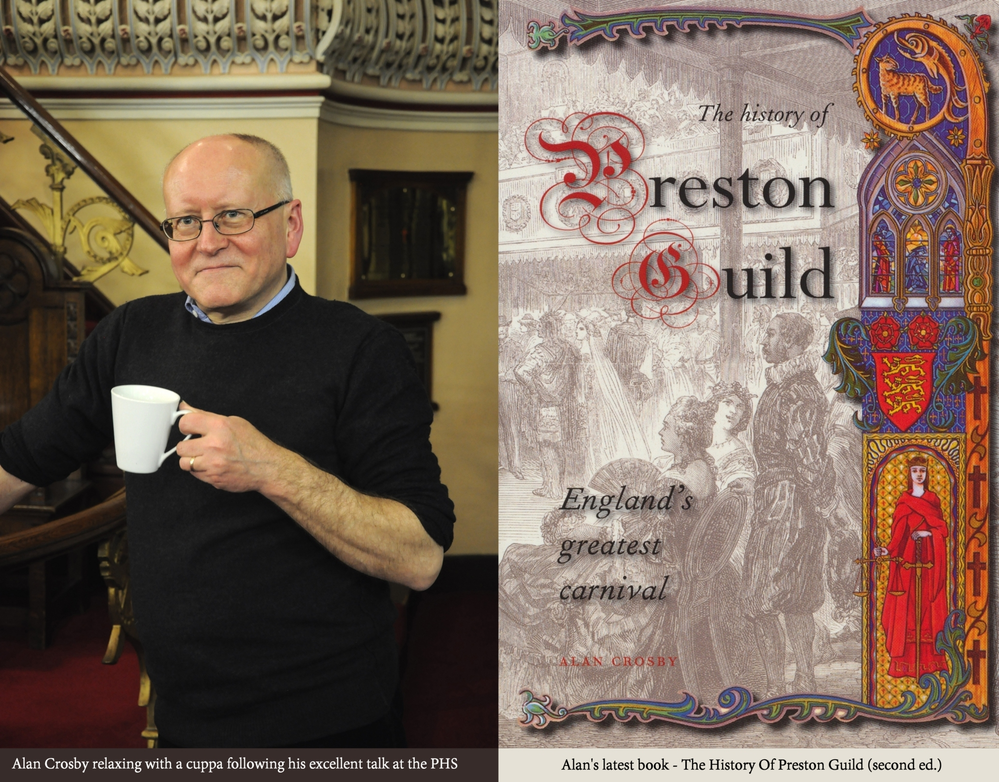 Dr Alan Crosby at the Preston Historical Society meeting