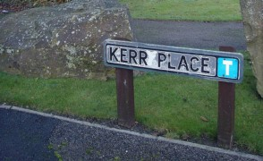 Kerr Place is one of the roads where residents have complained about trying to get out from