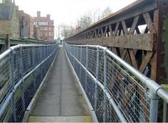 Not standing for much longer: The view across Vicars Bridge