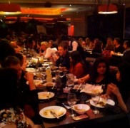 The Church Street curry house was full with diners helping raise money for Abaseen's work