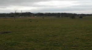 The land is currently grassland and is bordered by the M55 and the West Coast Main Line