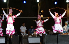 Dancing and music at the Mela in 2011