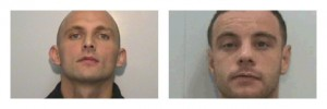 Lee James Seddon, 36,left and Michael James Bond, 30, right, are wanted by police