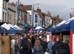 Stalls line Friargate during a previous Lancashire Market
