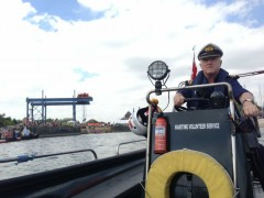 Volunteers from the MVS have been on hand to ensure safety on the water during the Festival