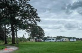 A view of the caravans parked up on Ashton Park