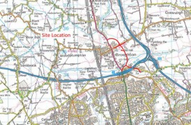 The proposed route for the Broughton bypass