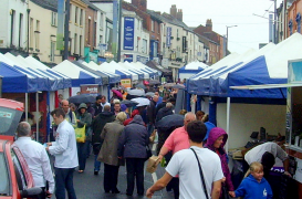 Grey skies welcomed shoppers to Friargate to sample the flavours of Lancashire
