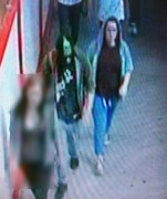 Shelby was seen walking towards Platforms 1 and 2 at Preston train station