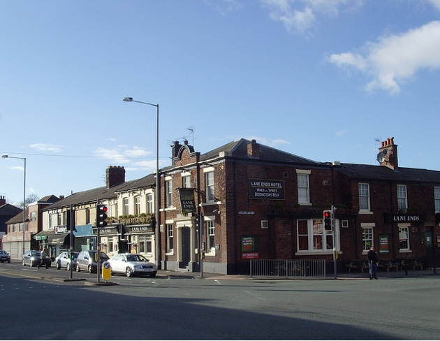 Where Stocks Road meets Blackpool Road is a busy junction in Preston