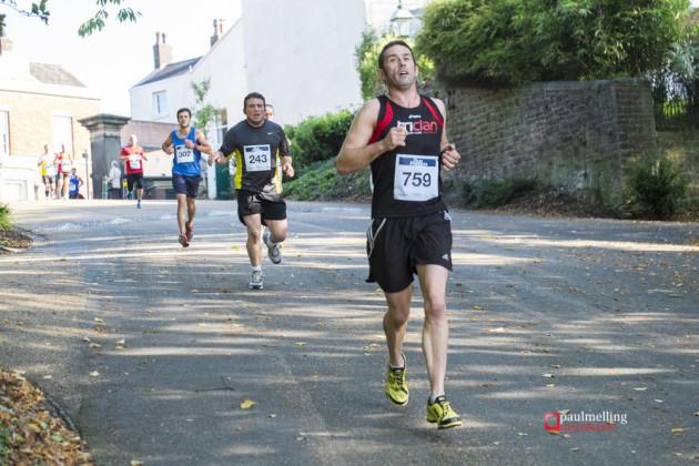 Runners heading down towards Avenham Park
