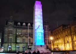 The Cenotaph lit up in November