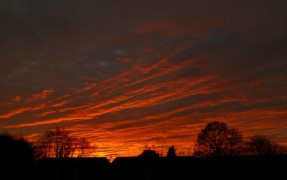 Sunset over Preston on Saturday 30 November