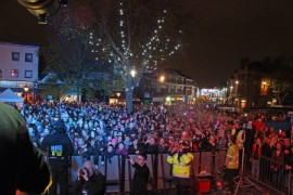 View from the switch on stage. Picture via BigTVLtd on Twitter.