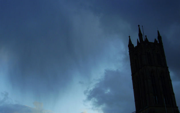 Rain over St Marks