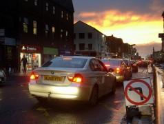 Traffic in Preston city centre