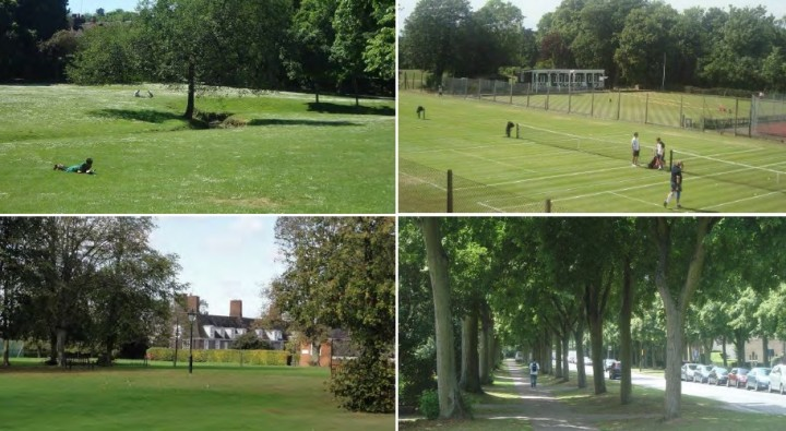 Some scenes in the masterplan of what green spaces would be provided alongside the homes