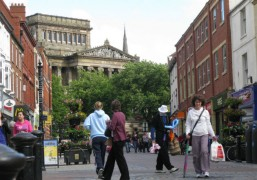 Shoppers at the top end of Friargate