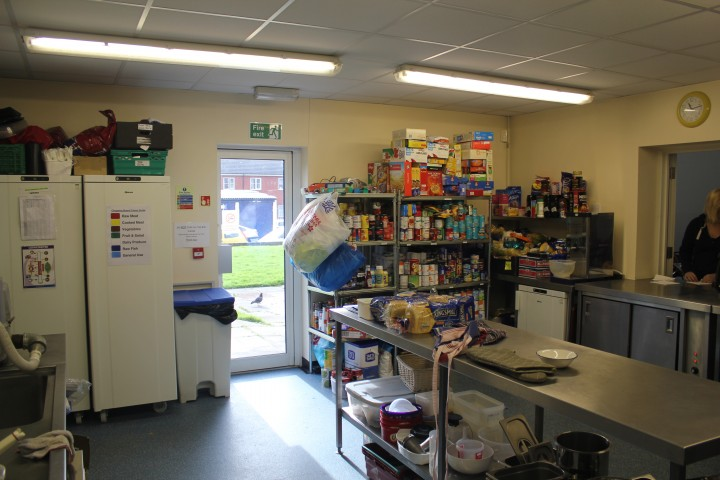 The Salvation Army foodbank in better stocked times