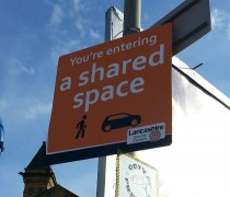 """New road signs say motorists are entering a """"shared space"""""""